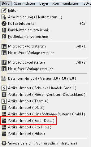 Excel-Import